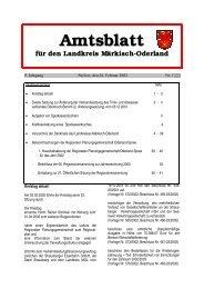 Amtsblatt für den Landkreis Märkisch-Oderland - im Landkreis ...