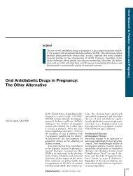Oral Antidiabetic Drugs in Pregnancy: The Other Alternative
