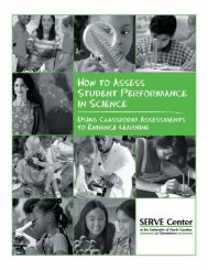 How to Assess Student Performance in Science: Using ... - SERVE