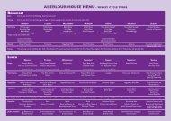 aberlour House Menu - Weekly CyCle THree Breakfast - Gordonstoun
