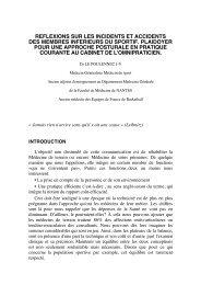 Réflexions sur les incidents et accidents des membres inférieurs du ...