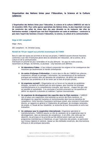 UNESCO - Awex