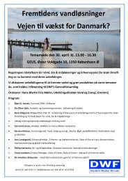 Program - Danish Water Forum
