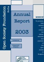 Annual Report 2003 - Institute for Studies of the Recent Past