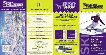 Folder Skischule - Sport Kornberger