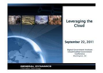 Leveraging the Cloud - Digital Government Institute