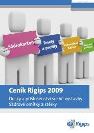 Ceník suché výstavby 2009 - Rigips