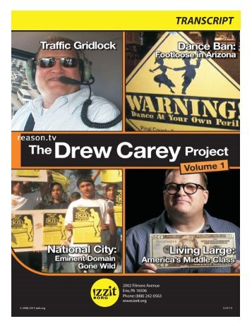 The Drew Carey Project, Volume 1 Transcript - Izzit.org