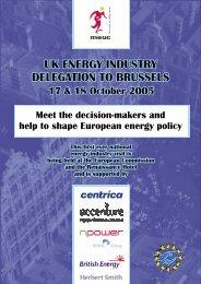 Major UK Energy Users Conference – Brussels ... - Moffatt Associates