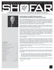 September/October, 2012 elul/tishrei/heshvan 5772-5773 - Issue 1010