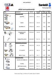 JAGA termostatventiļi - Sanistal