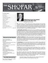 September-October 2010 - Congregation Shearith Israel