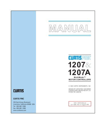 40 Free Magazines From Fsipbiz. Manual Curtis Instruments. Wiring. 1207 Ezgo Controller Wiring Diagram At Scoala.co