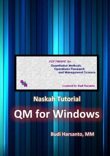 Memulai QM for Windows - Blogs Unpad