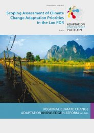 Laos Scoping assessment - Regional Climate Change Adaptation ...