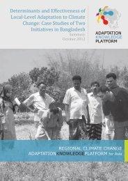Summary_Bangladesh Case Studies - Regional Climate Change ...