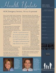 HCHC Emergency Services... For us, it's personal - Henry County ...