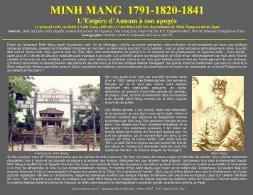 MINH MANG 1791-1820-1841 - Chim Việt Cành Nam - Free