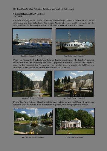 Mit dem Bimobil über Polen ins Baltikum und nach St. Petersburg 9 ...