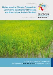 A Case Study in Thailand - Asia Pacific Adaptation Network