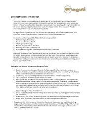 Datenschutzerklärung (PDF) - Aguti