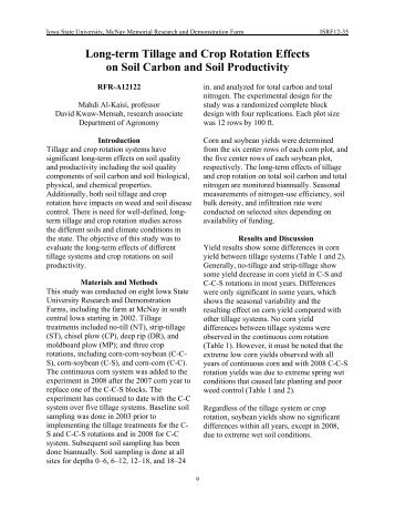 Long-term Tillage and Crop Rotation Effects on Soil Carbon and Soil ...
