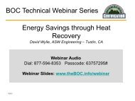 Energy Recovery Theory - Building Operator Certification