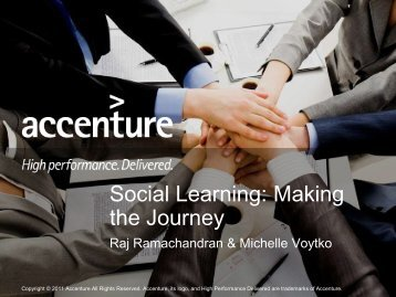 Social Learning: Making the Journey