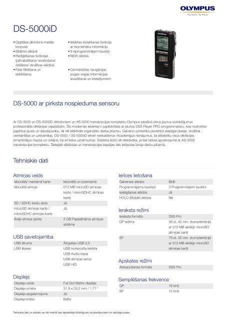 DS-5000iD, Olympus, Professional Dictation
