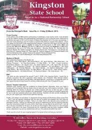 newsletter-2013-3-22 - Kingston State School