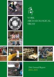 2004-5 - York Archaeological Trust