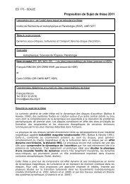 Sujet de thèse 2009-2012