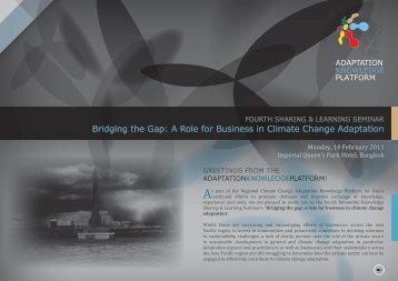 Bridging the Gap: A Role for Business in Climate Change Adaptation