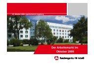 Arbeitsmarktpräsentation Oktober 2009 - B4B Schwaben