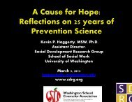 Reflections on 25 years of Prevention Science - Social Development ...