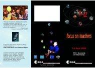 focus on teachers 2-6 April 2002