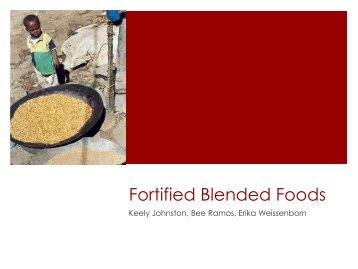 Fortified Blended Foods PowerPoint - UBC Blogs
