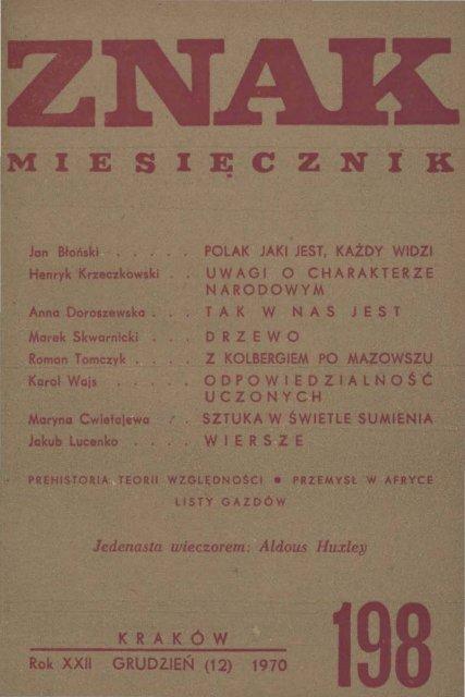 Nr 198 Grudzieå 1970 Znak