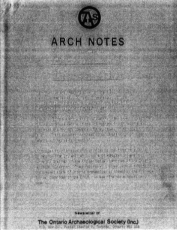 1 - Ontario Archaeological Society