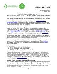 National Volunteer Week April 15-21 - Ontario Association of ...