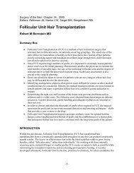 Follicular Unit Hair Transplantation - Bernstein Medical