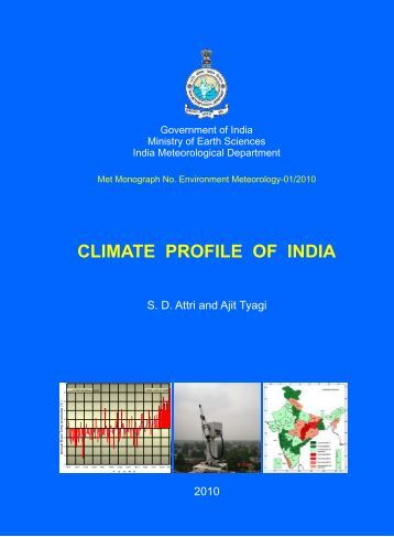 [pdf]Climate profile of India - India Meteorological Department