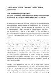 Cultural Pluralism Background Paper - Irmgard Coninx Stiftung