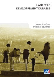 Plaquette l'AFD et le Développement durable - Agence Française de ...