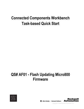 Flash Updating Micro800 Firmware