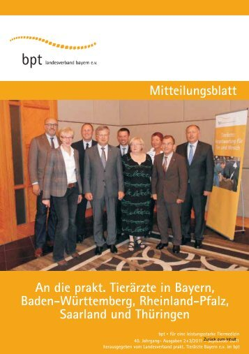 Heft 2-3/11 - Bundesverband Praktizierender Tierärzte eV