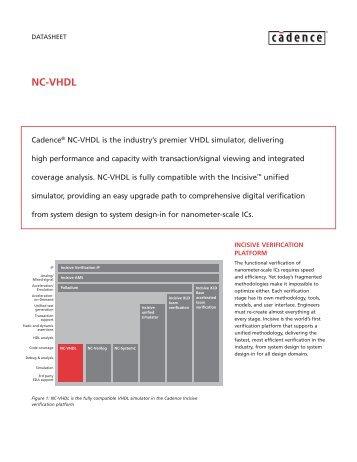 NC-VHDL datasheet - Cadence - Cadence Design Systems