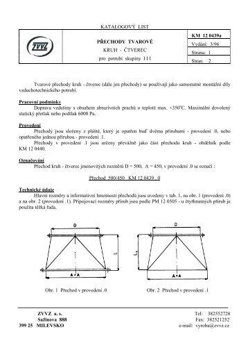 Přechody kruh-čtverec - ZVVZ a.s.