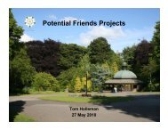 Potential Friends Projects - Friends of Valley Gardens