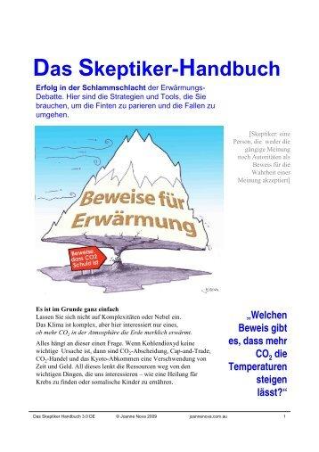 Das Skeptiker-Handbuch - KlimaNotizen